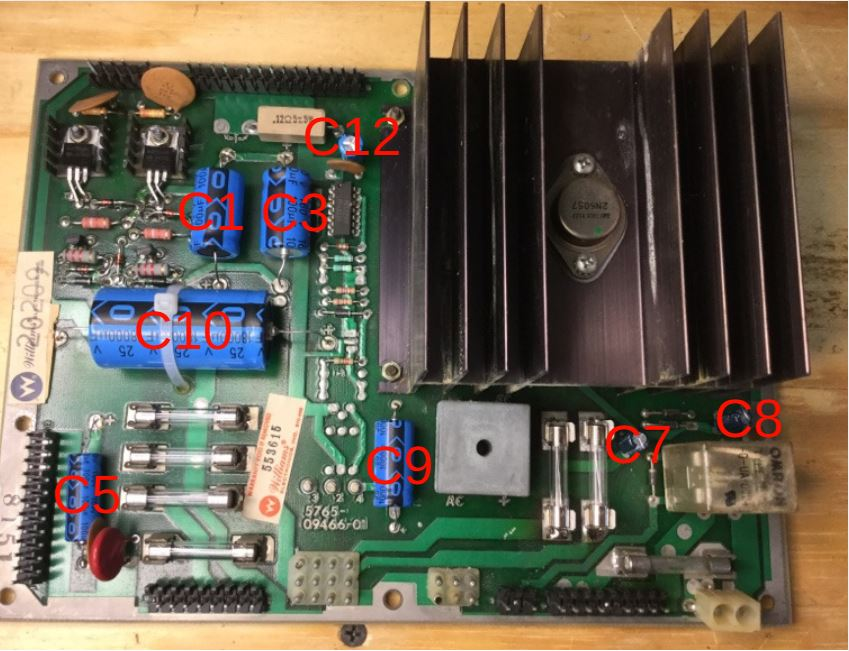 System 7-11A Cap Map for Power Supply Rebuild
