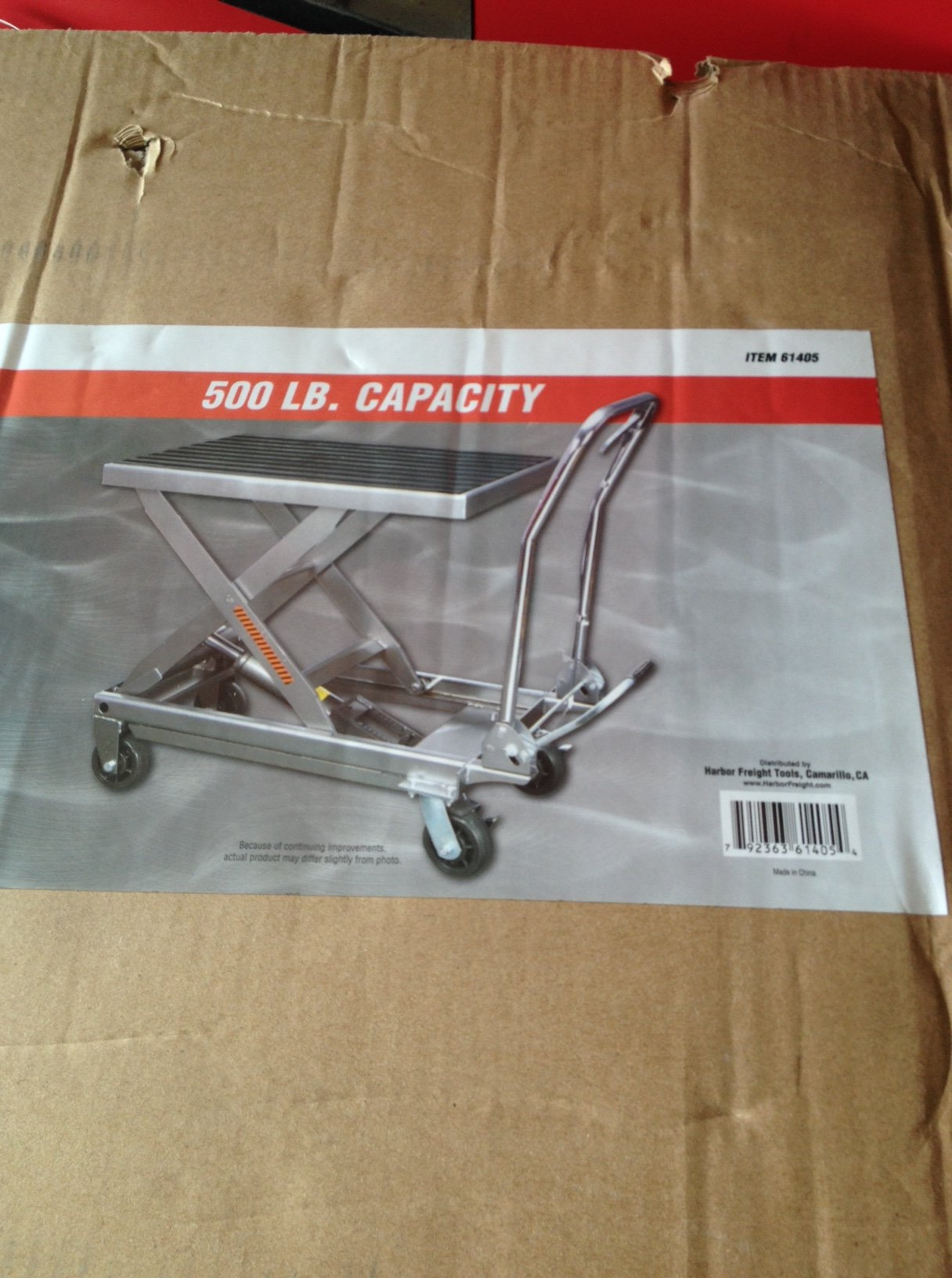 Harbor Freight Lift Cart