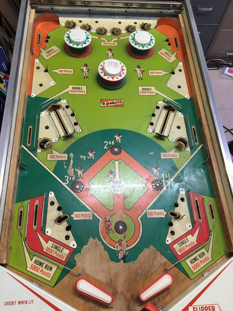 Playfield with plastics removed