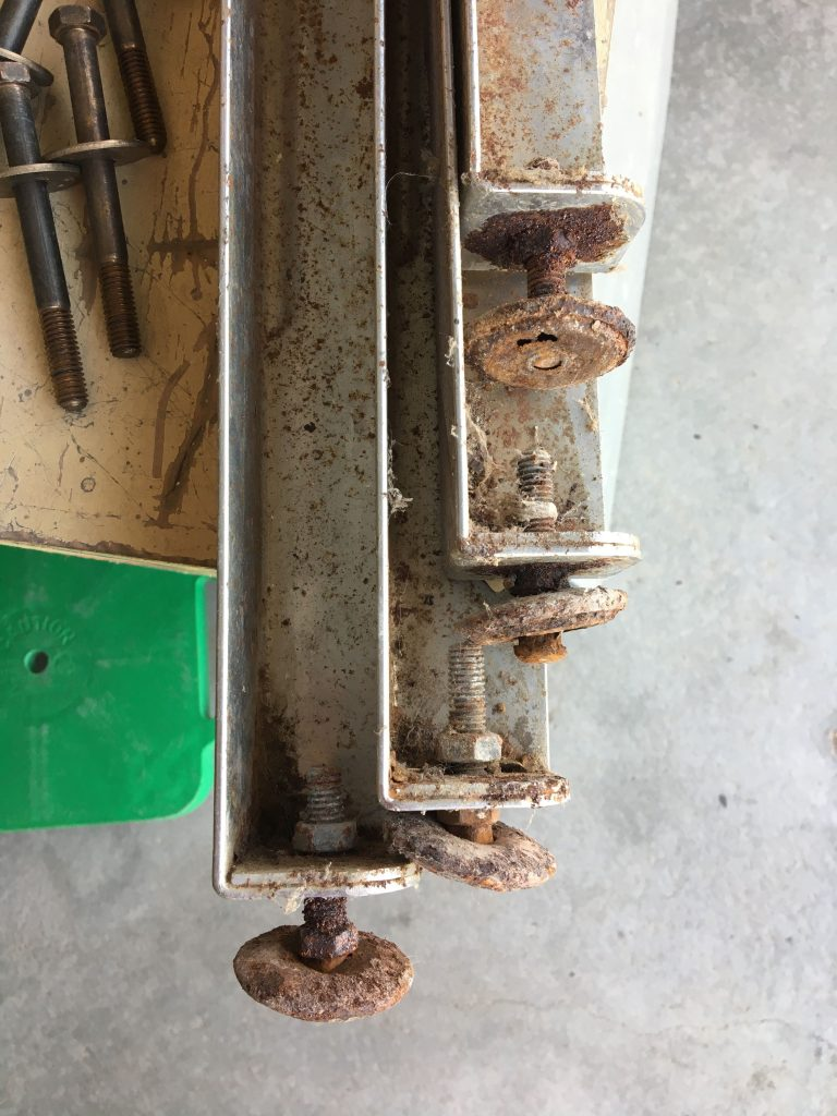 Rusted legs and feet