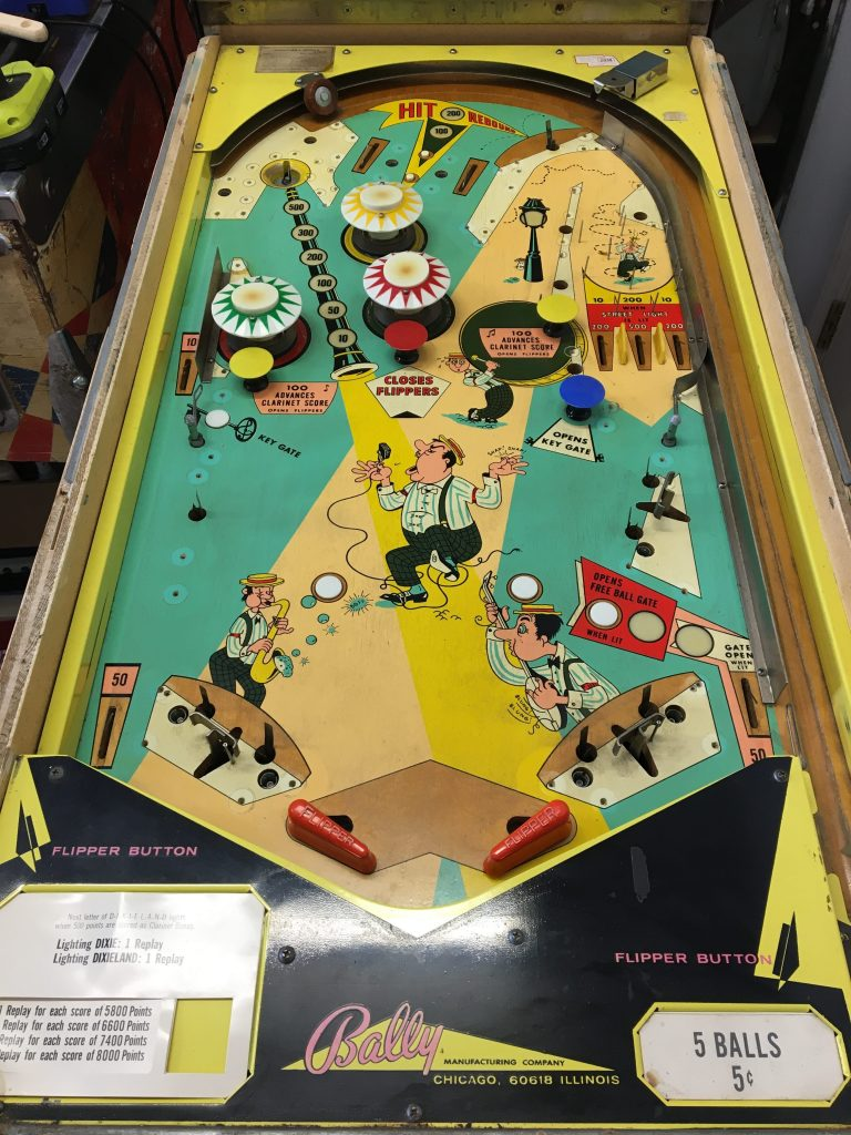 Playfield partially stripped